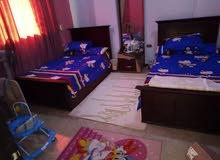 شقة مفروش للايجار في محافظة السويس عفش راقي جدا بها شاشه LC D  بوصه 40 وجميع الا