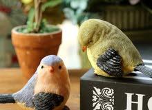 مجموعة تحف عصافير للزينة