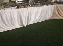 3 طاولات و4 اطباق للبوفيه للايجار ب20 ريال