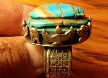 خاتم الفرعون بحجر الفيروز