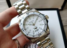 Dive watch 40mm white & silver