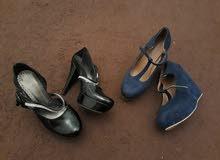 حذائين استعمال نظييييف جدا مرتين او 3 مرات ملبوسات