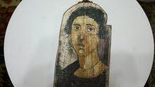 لوحه عمرها اكتر من 300سنه لقديسه يونانيه