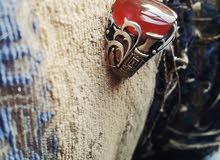 خاتم تركي فضه وعقيق يمني رماني