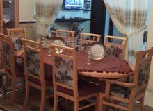 طاولة خشب  زان  مع ثمن  كراسي