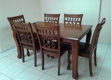 طاولة سفرة + 6 كراسي
