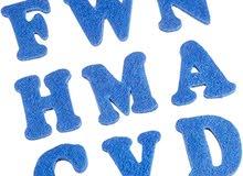 Royal Blue Felt Alphabet