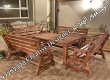 جلسات خشبية كلاسيكية بالتفصيل مع ضمان سنة ضد الرمة