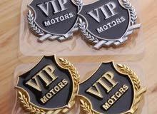 شعار معدني 3D VIP