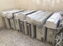 للبيع عدد 5 مكيفات نظيفه بس يوجد بها ضربات في رديتر الكمبريسور من البرد