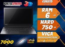 laptop toshiba core i5 ram 6 hdd 750  جيل رابع للجرافيك والالعاب