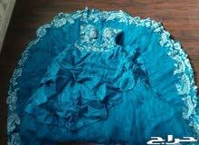 فستان شبكه فخم جدا بالكريستال الاصلي والجيبونا مستعجل البيع