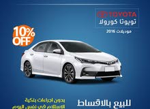 Toyota Corolla 2016 for rent per Year