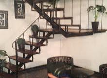 شقة في عمر المختار مفروش دوبلكس الايجار 1500