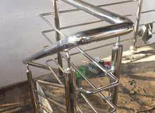 نقوم بجميع اعمال الحديد المشغول والألمنيوم لدينا قسم خاص للصبغ والجبس انبورد