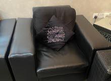 Sofa 6 seater set, Curtins & TV shelf