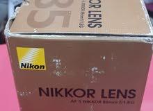 عدسة نيكون 85mm جديدة السعر 450$
