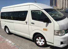 Toyota Hi ace in good condition for rent with driver
