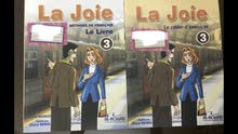 French La Joir Book and practice book Grade 4