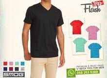 SMOG V-Neck Tshirts for Men