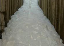 فستان زفاف للبيع ملبوس مره وحده