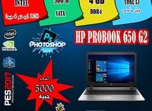 بحاله الزيرو بالظبط /HP PROBOOK 650 G2 CORE I5 جيل سادس 6200U+ رمات DDR4