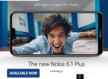 نوكيا 6.1 بلس غير مستخدم للبدل او البيع