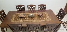 طاولة سفرة 8 كراسي خشب ماليزي