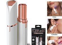 جهاز فلوليس يعمل بالشحن لإزالة شعر الوجه و الجسم FLAWLESS القلم الذهبي