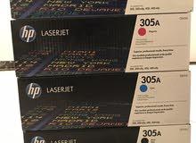 احبار طابعة HP ليزر اربع الوان جديده