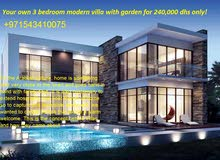 Direct sales! No commission! Your own 3 bedroom modern villa with garden