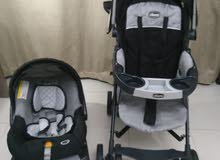 Chicco stroller with car seat