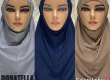 حجاب قطعتين قطن ليكرا