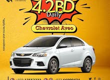 chevrolet aveo for rent