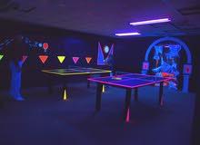 إضاءة سوداء لغرف القيمنق و التصوير، black light for gaming rooms and photo shoot