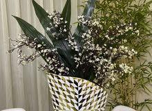 مزهريه 3D مع نباتات صناعيه راقيه جدا