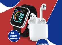 9C Smart Watch + Airpods i12