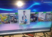 Xbox 360 بحالة الوكاله عليه 60 لعبة