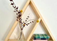 رفوف خشبية