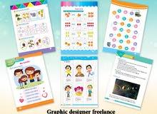 مصمم جرافيك Freelancer تصميم كتب الأطفال الدراسية والمناهج التعليمي