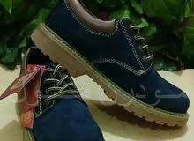 حذاء رجالي سفتي جلد طبيعي كحلي