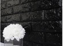 PE Foam 3D Wall Stickers Brick Pattern Self Adhesive – Black