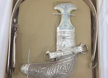 خنجر قرن عماني مع الحزم جديد