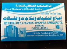 need repair A/C washing machine. refrigerated