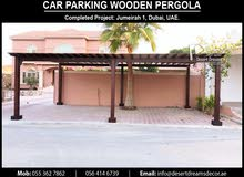 Car Parking Wooden Pergola Manufacturer and Installing in UAE.