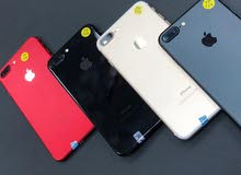 ايفون 7بلاس ذاكره 128 جيبي (اعلي جوده لأقل سعر) لدينا مع الملحقات والضمان