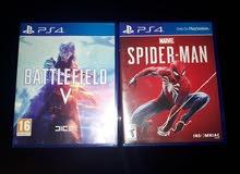 سيديات مع عرض ps4 جديد لعبة(30)Battlefield V و لعبة(30)spiderman