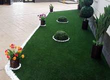 تصميم حدائق شلالات نوافير تركيب الثيل الأرضي والجداري
