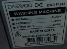 للبيع غسالة دايو شبه جديدة صناعة كورية 7 كيلو