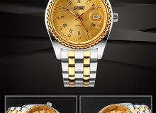 ساعة رجاليه بتصميم بسيط